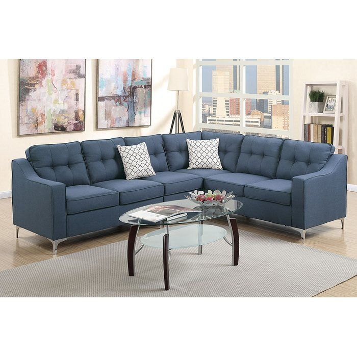 Ivy Bronx Alongi Sectional Reviews Wayfair Sectional Sofa Couch Fabric Sectional Sofas Modern Couches Living Room