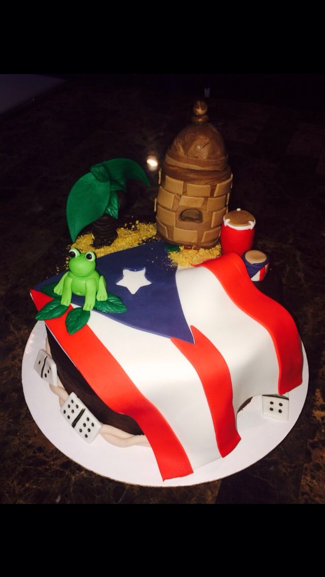 Puerto Rico Themed Cake ~ Made by Lali