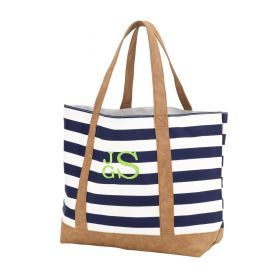 Monogram Tote Bag - Navy