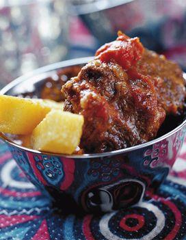 (à seitaniser et à  la mijoteuse) Goulash à la roumaine et frites de polenta pour 6 personnes - Recettes Elle à Table