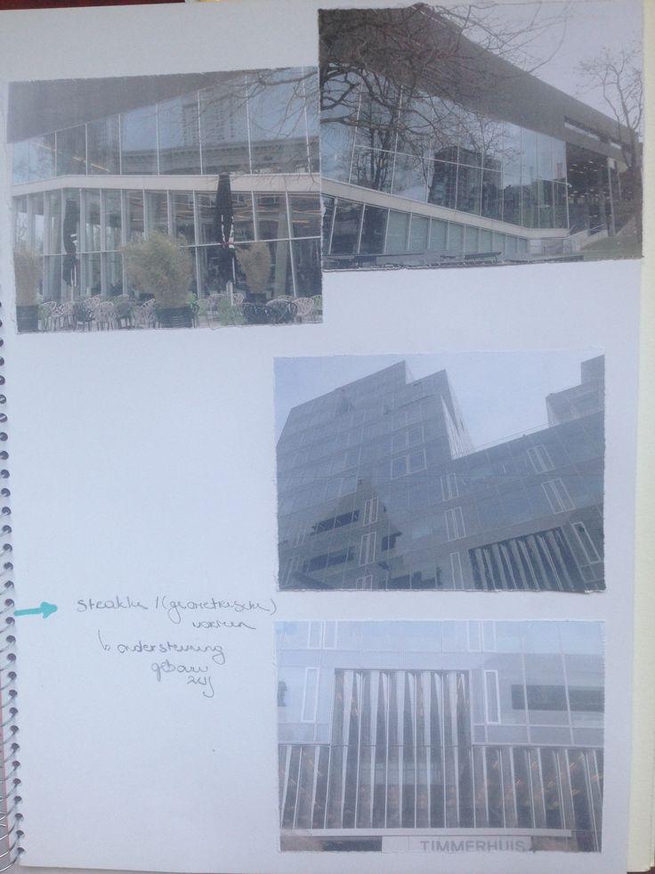 Inspiratie Rotterdam gebouwen: ramen -> strak tegenover organisch dak