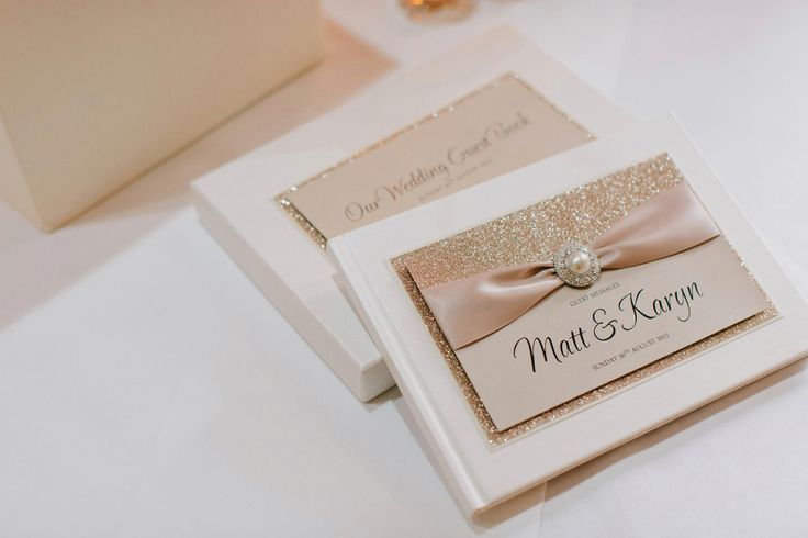 Gold is a very classic theme for a wedding. Make sure you capture you guests comments in these beautiful glitter guest books xXx