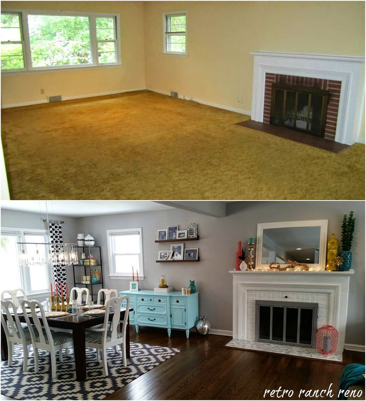 Our rancher before & after series...the dining room transformation! #ranch…