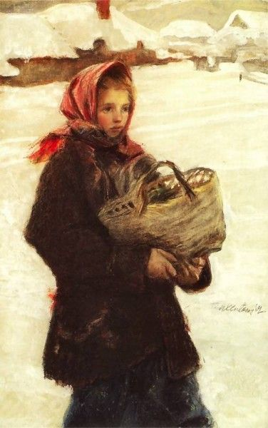 Teodor Axentowicz.-  (Looks like a cold, hard life.)
