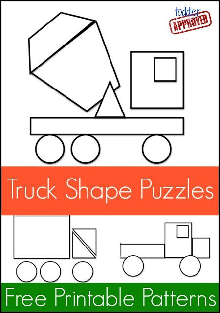 Truck Shape Pattern Puzzles from @Kristina Kilmer Kilmer Kilmer Kilmer Kilmer…