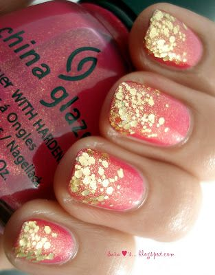 Gotta love glitter to see how to do these go to my coral nails