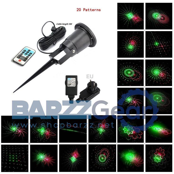 Stage Projector Lamp Waterproof Outdoor Laser Light IR Control DJ Party