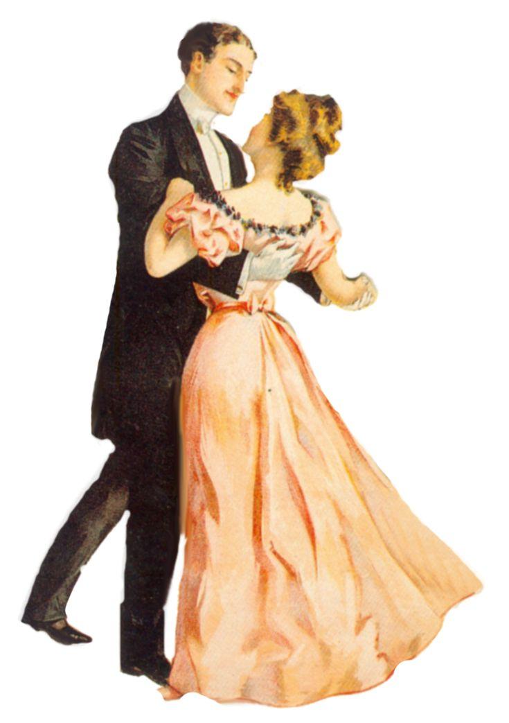 Victorian dancing couple scrap ~ jinifur on DeviantArt