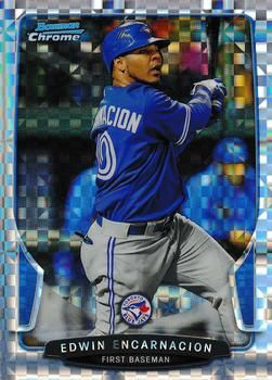2013 Bowman Chrome - X-Fractors 70 Edwin Encarnacion Toronto Blue Jays Baseball Card