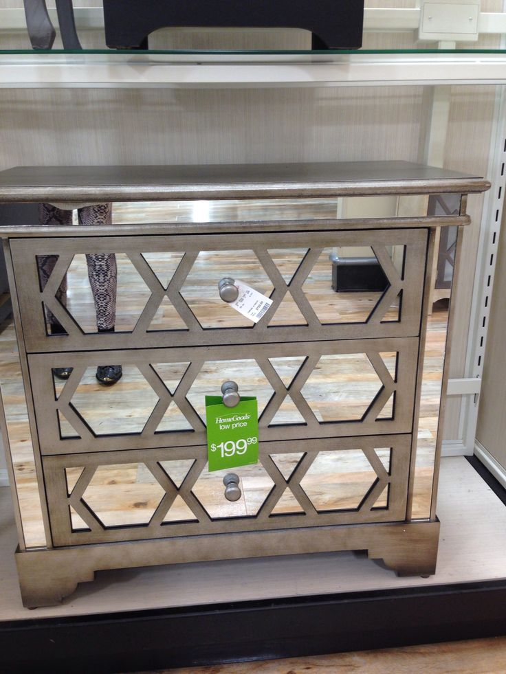 Mirrored Dresser Seen At Homegoods Store Pinterest