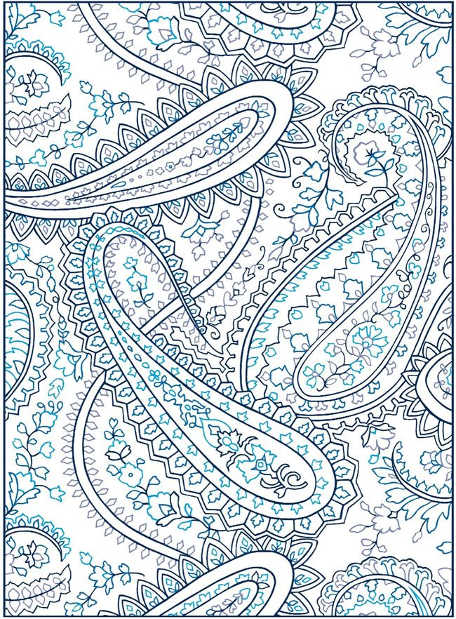 welcome to dover publications creative haven paisley designs with a splash of color - Paisley Designs Coloring Book