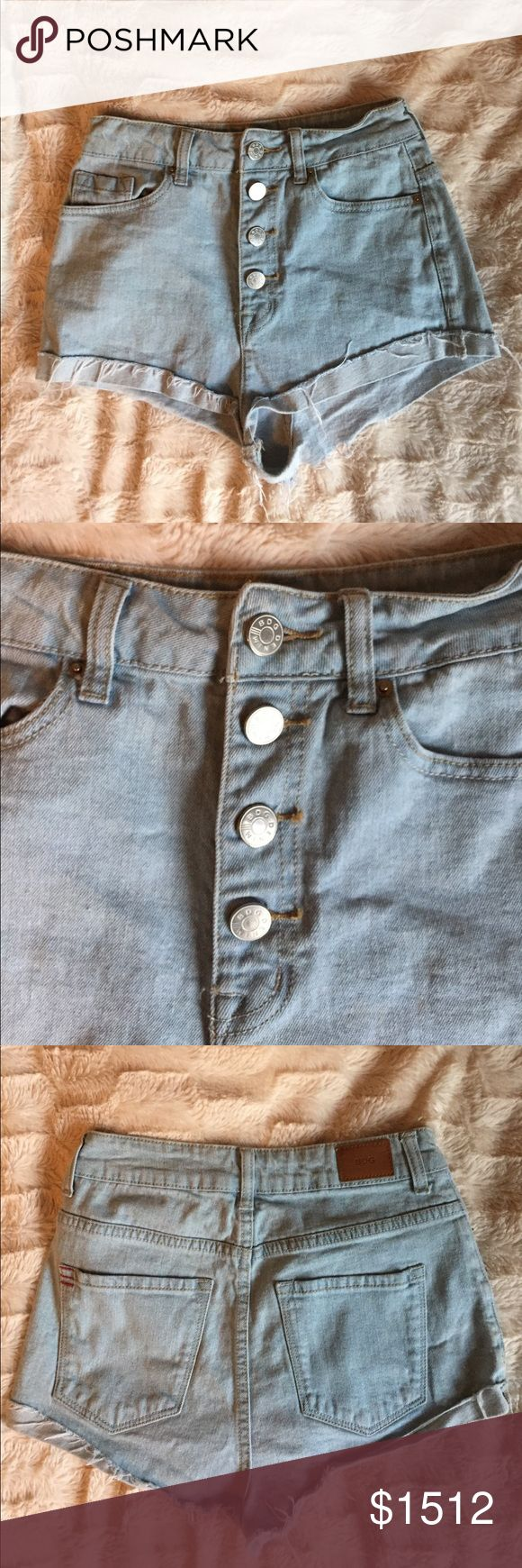 BDG - Urban Outfitters - High Waisted Shorts Urban Outfitters Light Wash high waisted shorts, button fly Urban Outfitters Shorts Jean Shorts
