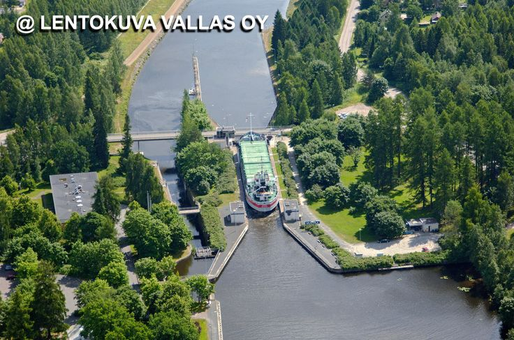 Lappeenranta, Saimaan kanava Ilmakuva: Lentokuva Vallas Oy