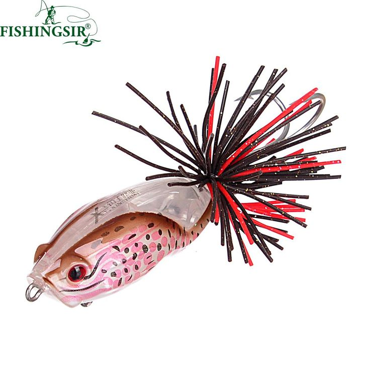 Surface Topwater Mimic Frog Popper Carp Fishing Lure Rattling Hardbait Winter Ice Pesca Artificial Lure Tackle for Rod 55mm 9.1g