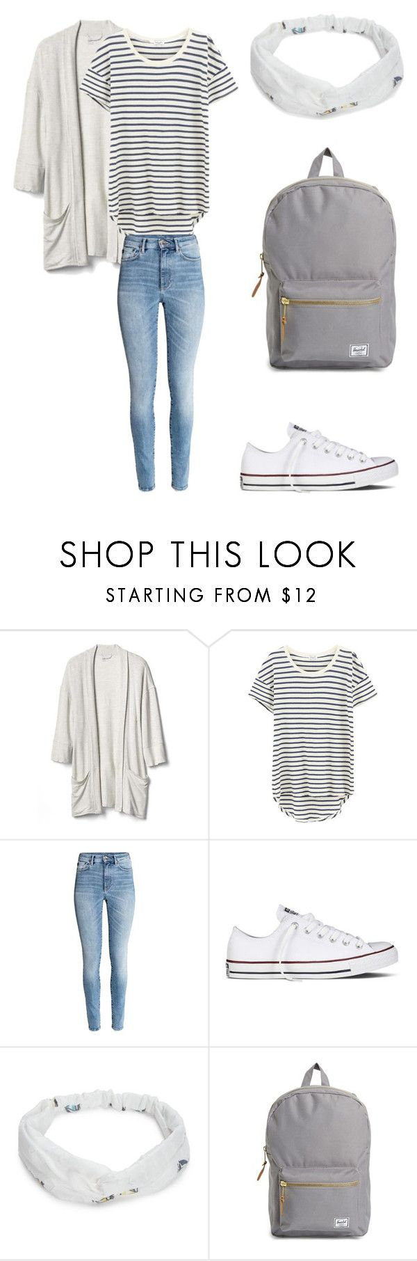 """""""Mottowoche First school day"""" by sarahfohlen ❤ liked on Polyvore featuring Gap, Splendid, Converse, Red Camel, Herschel Supply Co., Spring, 2k17 and mottowoche"""