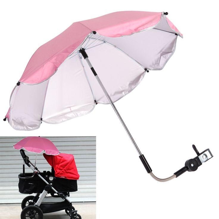 >> Click to Buy << Pink Baby Stroller Umbrella Kids Children Pram Shade Holder Mount for Sun Shade Baby Stroller Accessories #Affiliate