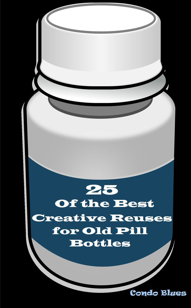 8 best images about empty pill bottles on pinterest for What to do with empty prescription bottles