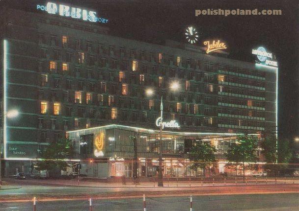 Metropol Hotel in Warsaw, Poland, c.1967.