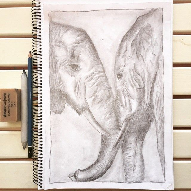 Love is the closest thing we have to magic.  #art #elephant #love #magic #quote #drawing #sketch #handmade #original