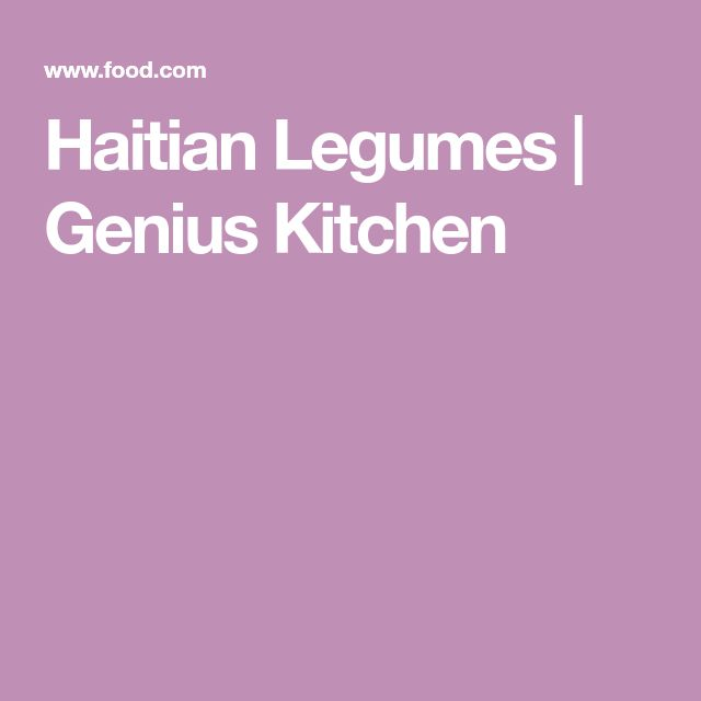 Haitian Legumes | Genius Kitchen