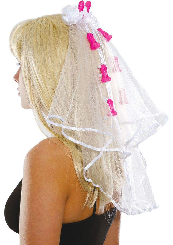 Bachelorette Party Favors Pecker Clip Veil