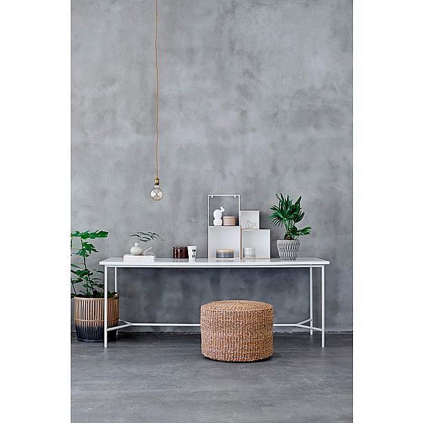 2x deze hanglamp met grote bol boven eettafel keuken. Bloomingville hanglamp (wehkamp.nl)
