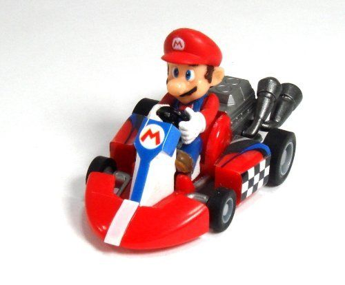 Mario Kart Tomy Gashopan 1.5 Inch Mario Pull Back Racer. Great for Collectors. Stickers must be applied. Each of these micro racers feature a powerful pullback engine that will sending them rocketing across any flat surface! Brand New Official Item. 36 months. Item dimensions: weight: -1, width: 1, height: 1 hundredths-inches.