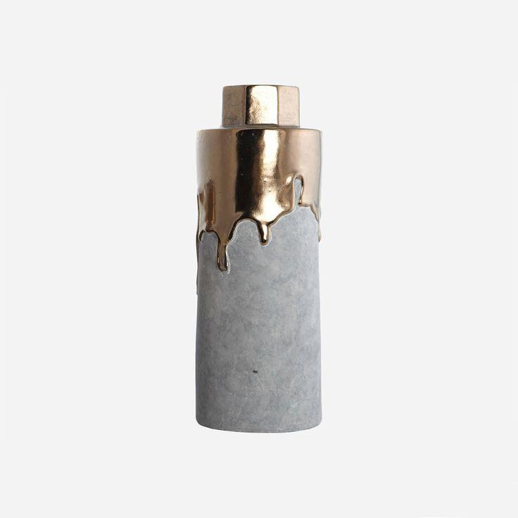 Hexa+Vase+32cm,+Gull,+House+Doctor