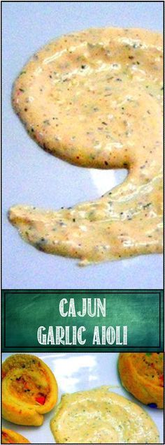Cajun Garlic Aioli... One of my most used sauces. Its a fancy mayonnaise, seasoned with Cajun/Creole New Orleans spices. Perfect for about any Chicken Sandwich you might make.