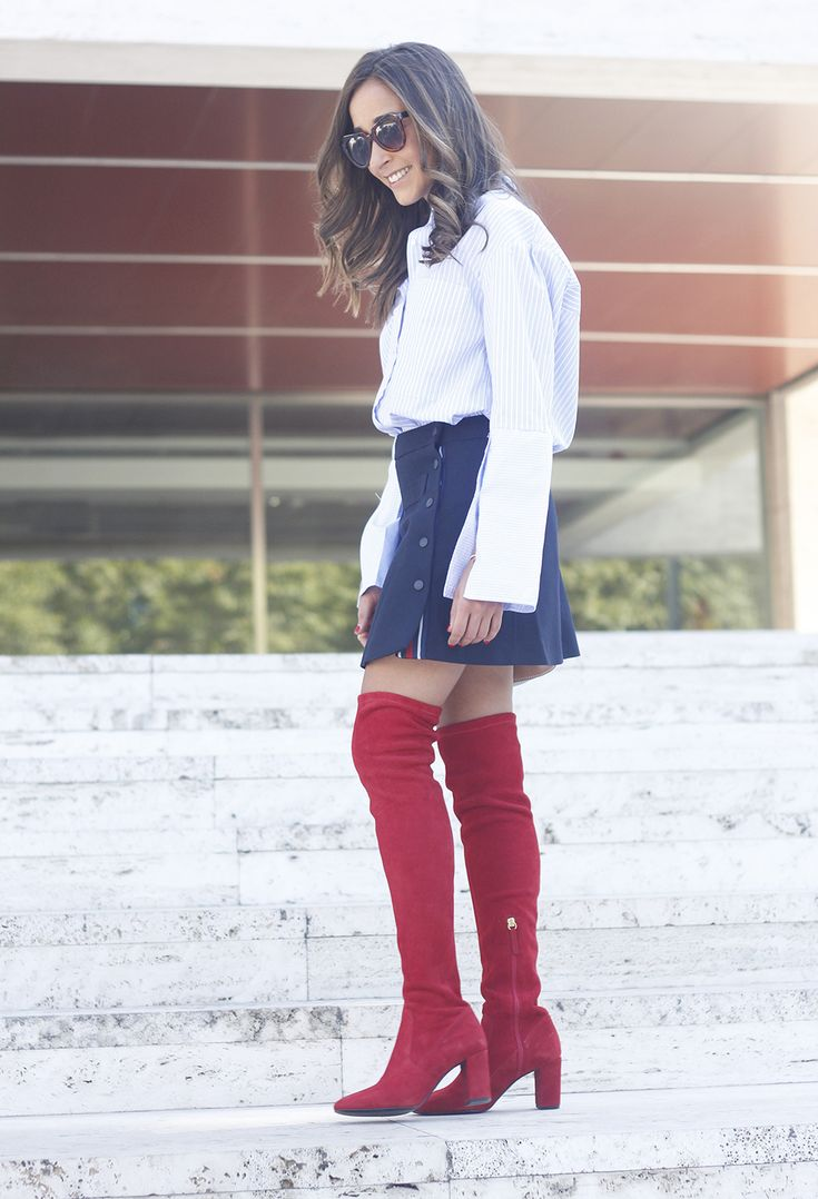 Red Over The Knee Boots | BeSugarandSpice - Fashion Blog