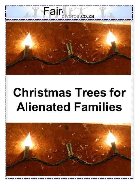 Pin Your Alienated Child's Name on our Christmas Tree for Alienated Families: Parental Alienation, Alienated Children of Divorce, Adult Children of Divorce, Fair Divorce