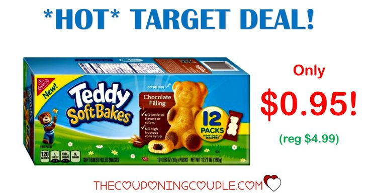 Don't miss out on this HOT deal! Get Teddy Soft Bakes for only $0.95 at Target! (reg $4.99!) These are so yummy!  Click the link below to get all of the details ► http://www.thecouponingcouple.com/awesome-deal-on-nabisco-teddy-grahams-soft-bakes-target/ #Coupons #Couponing #CouponCommunity  Visit us at http://www.thecouponingcouple.com for more great posts!