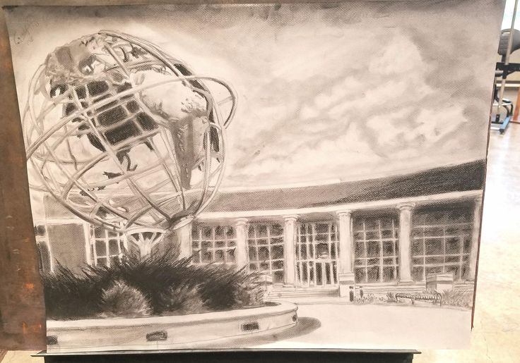 Art Hall of Heroes - Charcoal - 18x24cm ( Collin County Community College)
