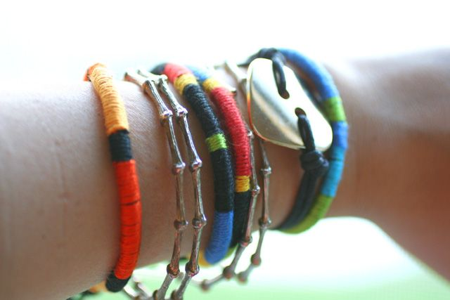 I Spy DIY: [My DIY] Color Wrap Bracelet: Cords Wraps, Colourwrap Bracelets, Diy Jewelry, Diy Bracelets, Bracelets Diy, Diy Colors, Colors Bracelets, Colors Wraps Bracelets, Easy Colors