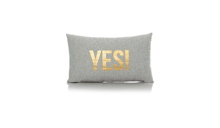 Double Sided Yes & No Cushion  30x50cm