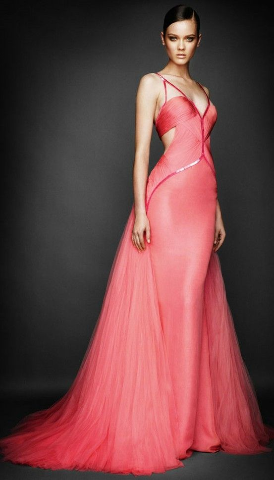 Atelier Versace- Pink gown by flora