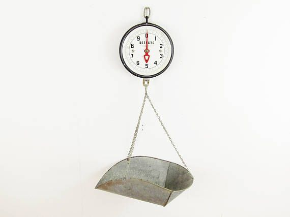 Vintage Scale,produce Scale,antique Scale,DETECTO Scale,hanging Scale,industrial  Scale,grocery Scale,kitchen Scale,farmhouse Antiques