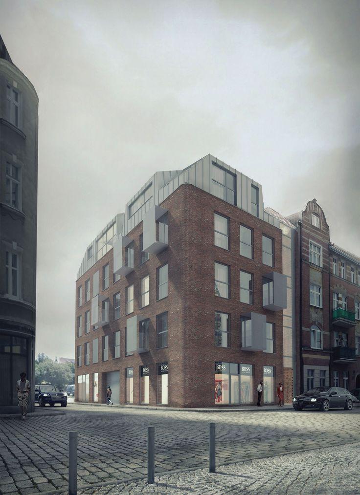 modern tenement, Poznan | zvaa. architectural visualisation