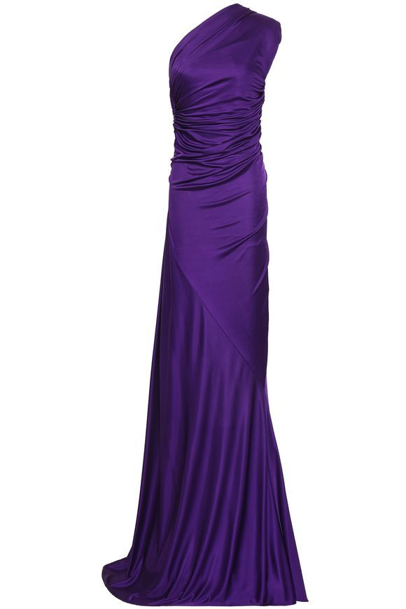 806cca992c ROBERTO CAVALLI One-shoulder open-back stretch-jersey gown | Roberto ...