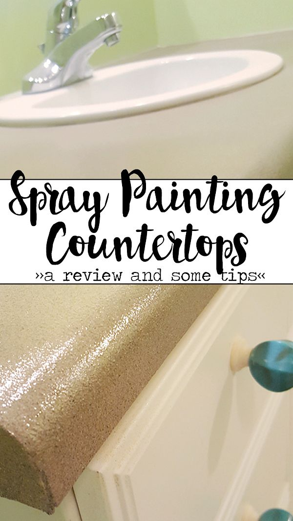 Ever wonder if spray painting laminate counters works and how it holds up? I can answer both those questions and give you a few tips for doing it yourself!