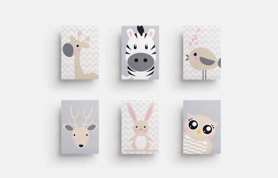 Printable nursery art - Set of 6 prints