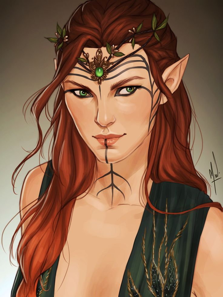 """warsonghold: """" """"""""Lady Lavellan, it's a pleasure to make your acquaintance."""" """" I commissioned the wonderful @cocotingo for a portrait of Karis at Halamshiral. Thank you so much! She's so beautiful! """""""