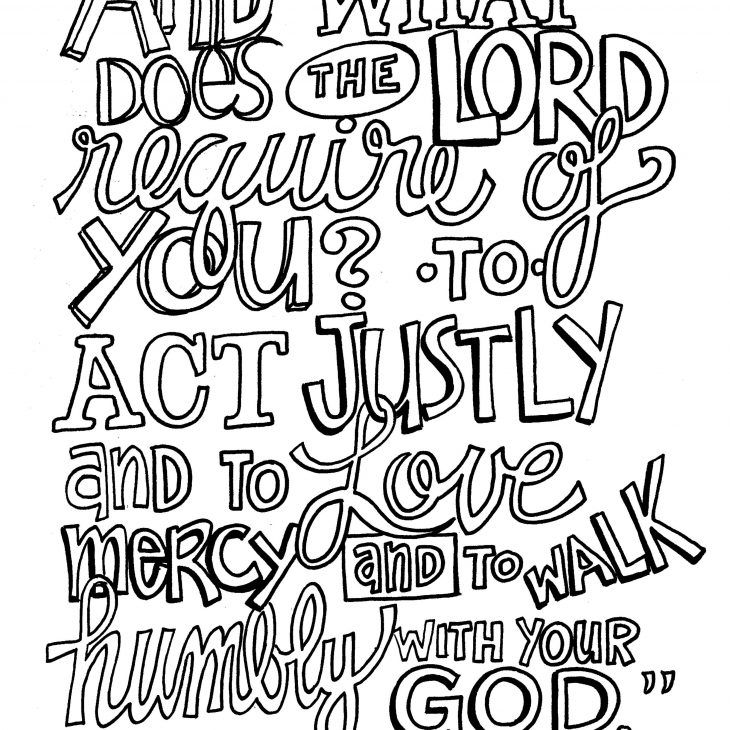 New Coloring Pages Bible Verse Coloring Page Micah 6 8 Bible