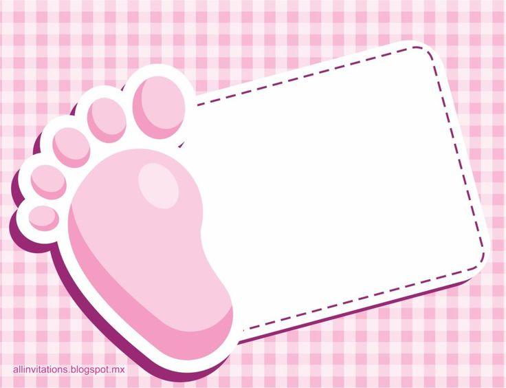Ideas de invitaciones sencillas para Baby Shower de niña | Manualidades para Baby Shower