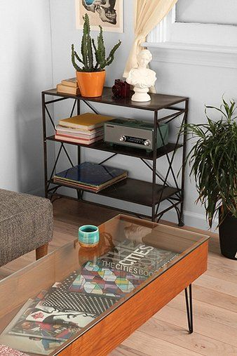 Gallery Coffee Table, Metal Bookshelf | Urban Outfitters