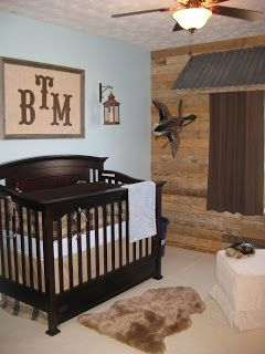 Rustic boys nursery, this is exactly what I want!!!