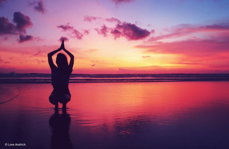 Yoga @ Sunset in Seminyak. The colours were unreal!  www.loveandrich.com