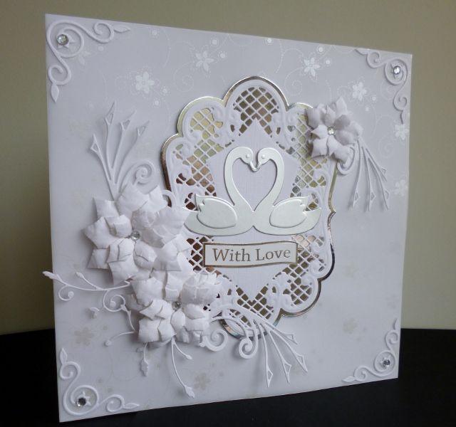 Silver Swans Celebration by sistersandie - Cards and Paper Crafts at Splitcoaststampers