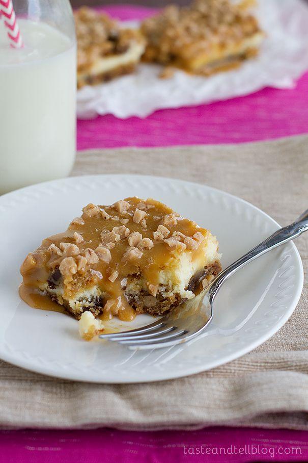 Caramel Cookie Cheesecake Bars