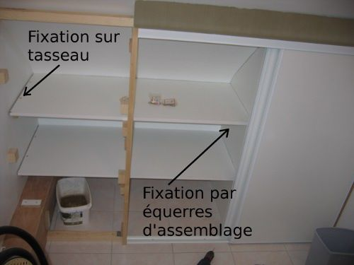 25 best images about id es placard sous pente on pinterest un armoires and - Faire etagere placard ...